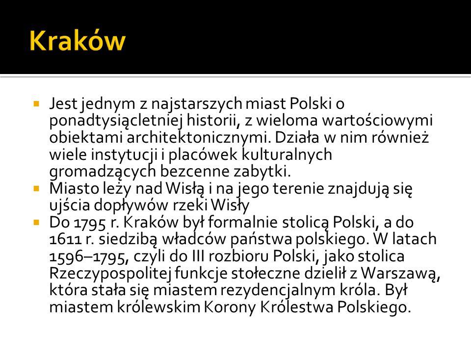  Jest jednym z najstarszych miast Polski o ponadtysiącletniej historii, z wieloma wartościowymi obiektami architektonicznymi. Działa w nim również wi