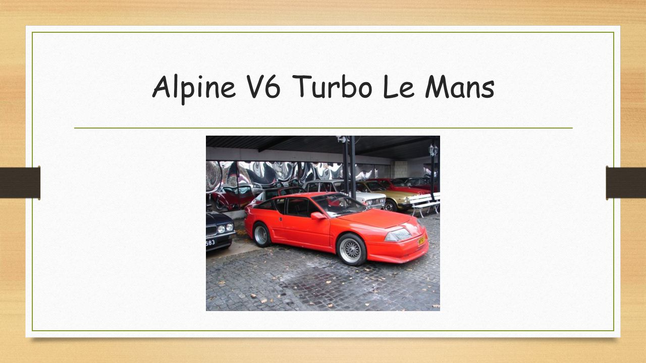 Alpine V6 Turbo Le Mans