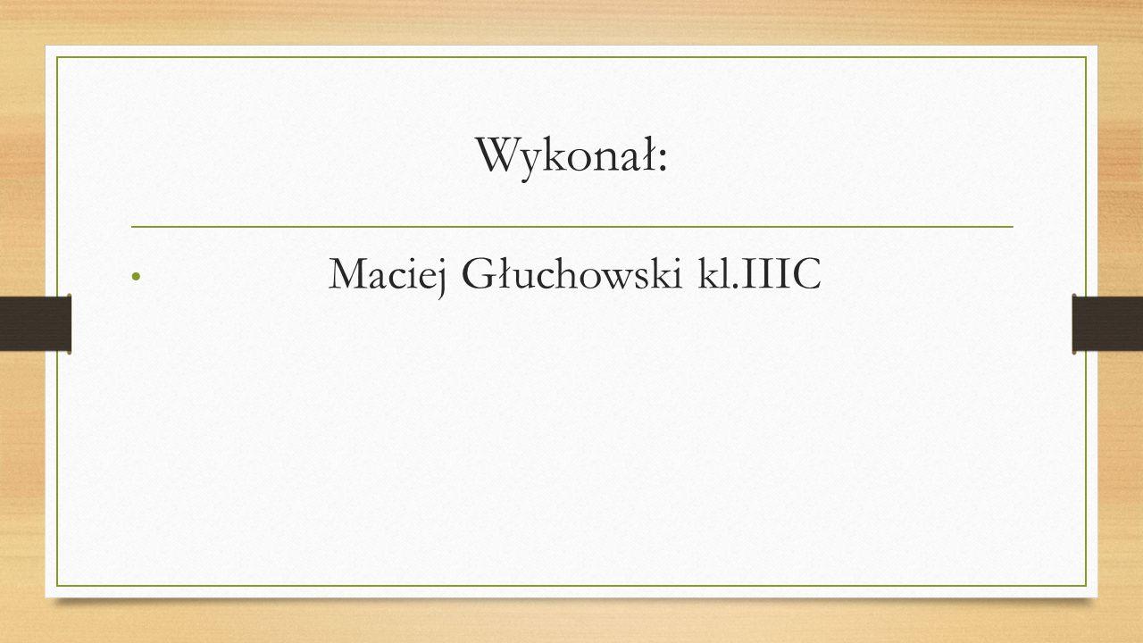 Wykonał: Maciej Głuchowski kl.IIIC