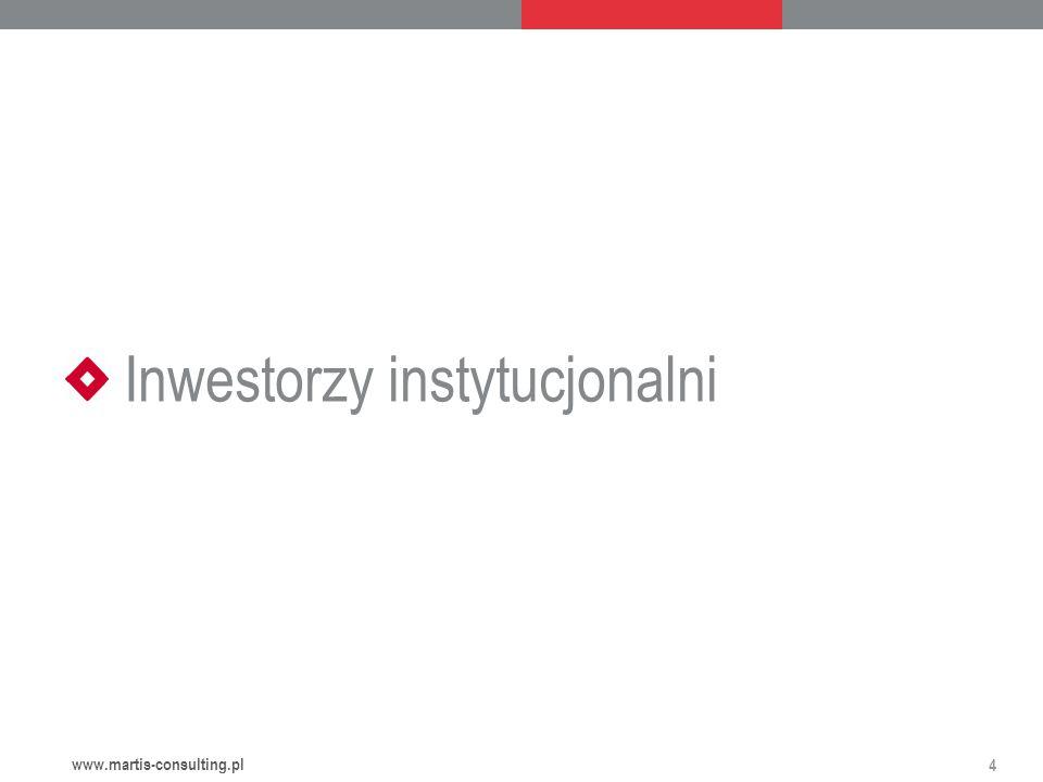 Inwestorzy instytucjonalni 4 www.martis-consulting.pl