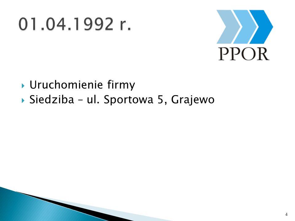  Uruchomienie firmy  Siedziba – ul. Sportowa 5, Grajewo 4