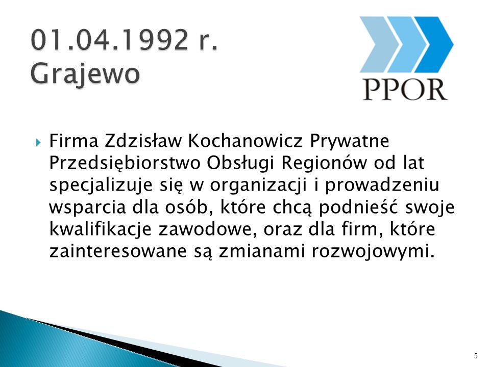  Firma Zdzisław Kochanowicz Prywatne Przedsiębiorstwo Obsługi Regionów od lat specjalizuje się w organizacji i prowadzeniu wsparcia dla osób, które chcą podnieść swoje kwalifikacje zawodowe, oraz dla firm, które zainteresowane są zmianami rozwojowymi.
