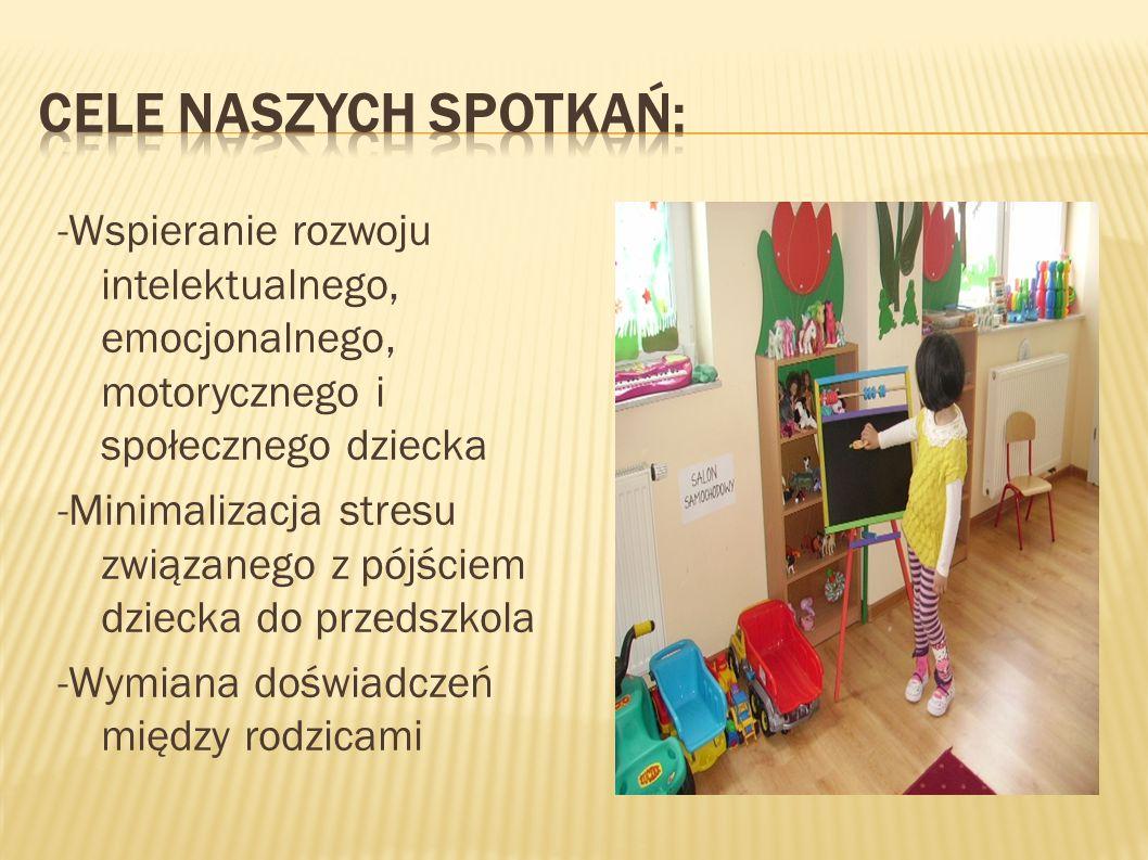  - Uświadomienie rodzicom tego jak ważna jest edukacja dziecka od najmłodszych lat - Promocja przedszkola