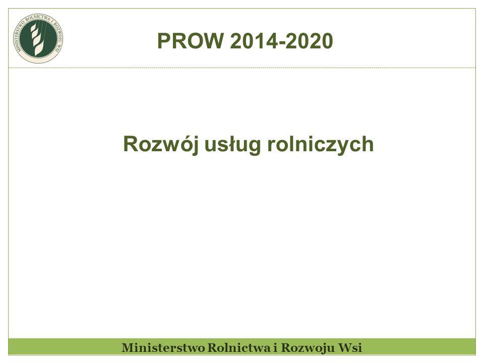 Ministerstwo Rolnictwa i Rozwoju Wsi Rozwój usług rolniczych PROW 2014-2020