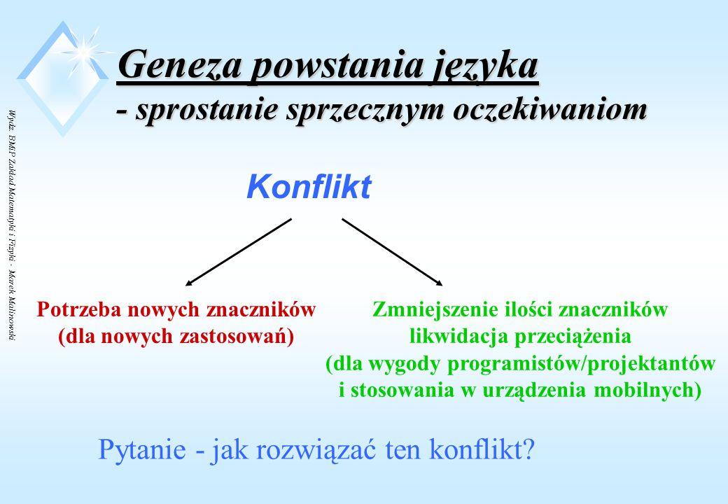 Wydz. BMiP Zakład Matematyki i Fizyki - Marek Malinowski Zalety XML niwelują wady HTML .