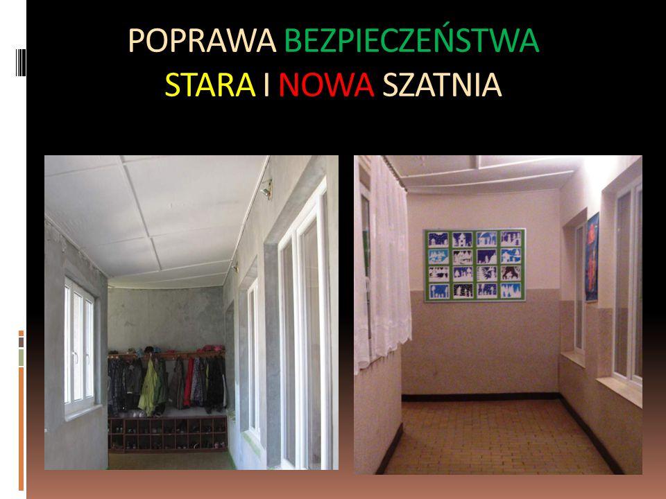 POPRAWA BEZPIECZEŃSTWA STARA I NOWA SZATNIA