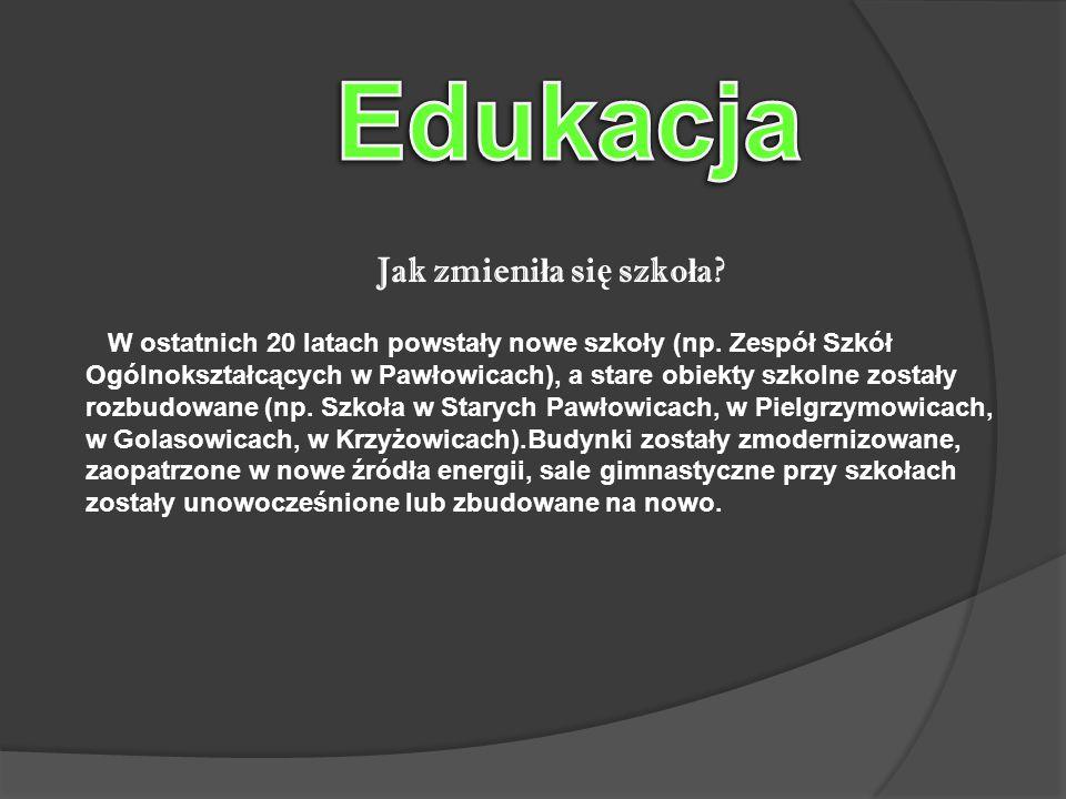 Jak zmieni ł a si ę szko ł a. W ostatnich 20 latach powstały nowe szkoły (np.