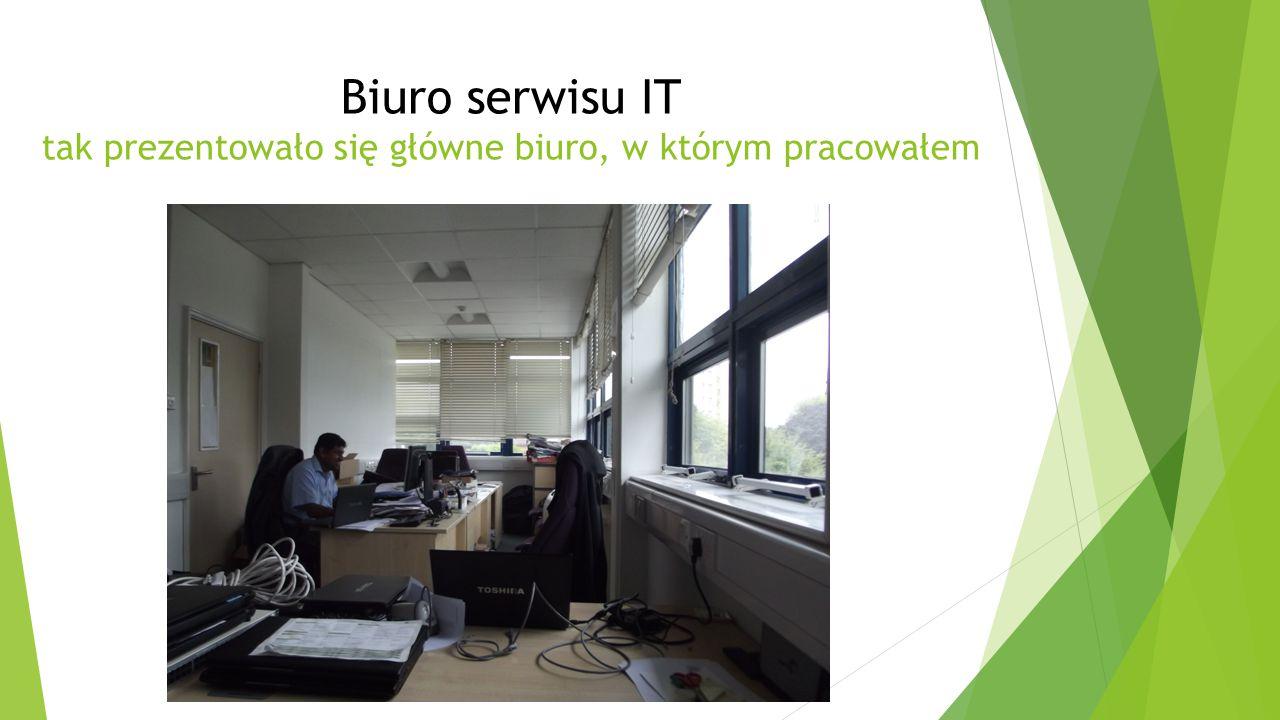 Biuro serwisu IT tak prezentowało się główne biuro, w którym pracowałem