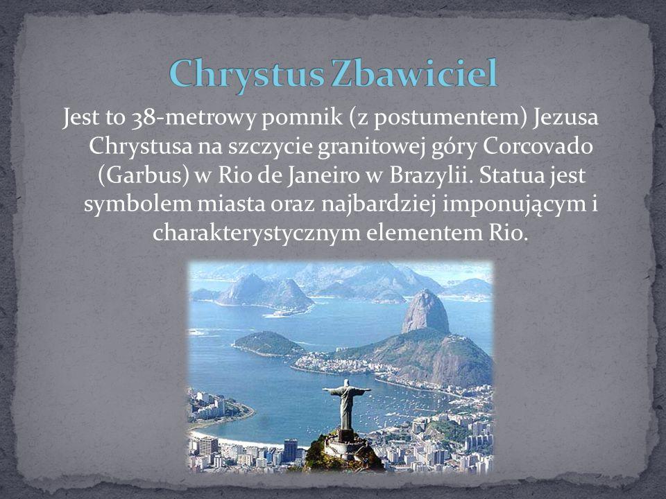 Jest to 38-metrowy pomnik (z postumentem) Jezusa Chrystusa na szczycie granitowej góry Corcovado (Garbus) w Rio de Janeiro w Brazylii. Statua jest sym