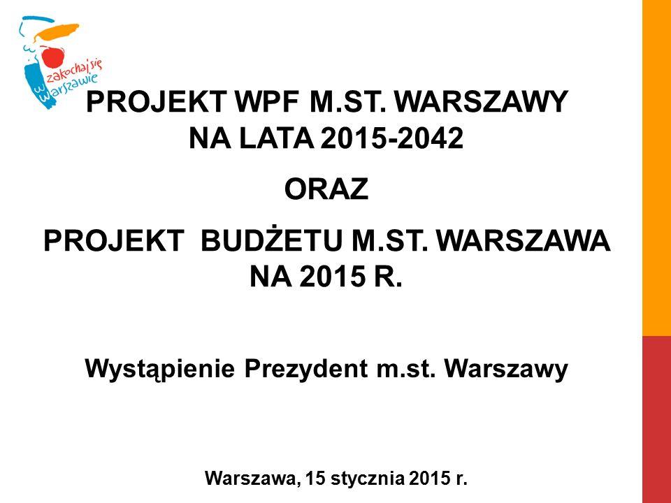 Wystąpienie Prezydent m.st.Warszawy Warszawa, 15 stycznia 2015 r.