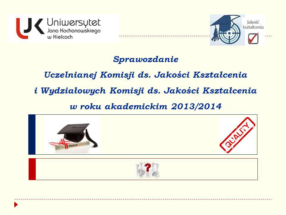 Sprawozdanie Uczelnianej Komisji ds. Jakości Kształcenia i Wydziałowych Komisji ds. Jakości Kształcenia w roku akademickim 2013/2014