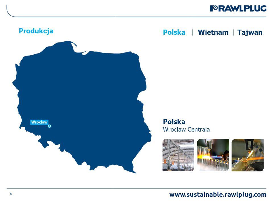9 Produkcja Polska Wrocław Centrala PolskaWietnamTajwan