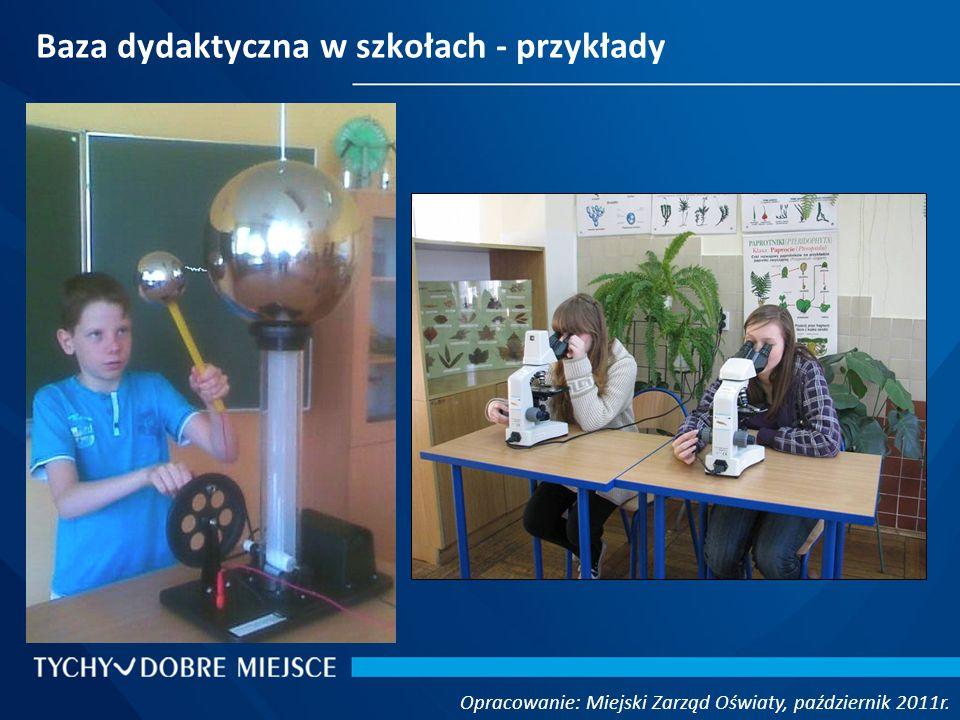 Baza dydaktyczna w szkołach - przykłady Opracowanie: Miejski Zarząd Oświaty, październik 2011r.