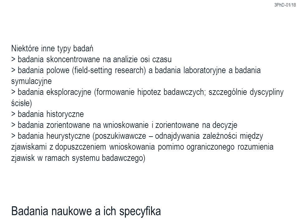 3PhD-01/18 Badania naukowe a ich specyfika Niektóre inne typy badań > badania skoncentrowane na analizie osi czasu > badania polowe (field-setting res