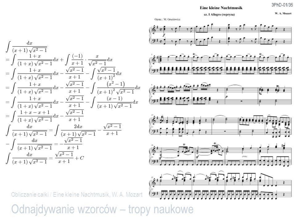 3PhD-01/35 Odnajdywanie wzorców – tropy naukowe Obliczanie całki / Eine kleine Nachtmusik, W. A. Mozart