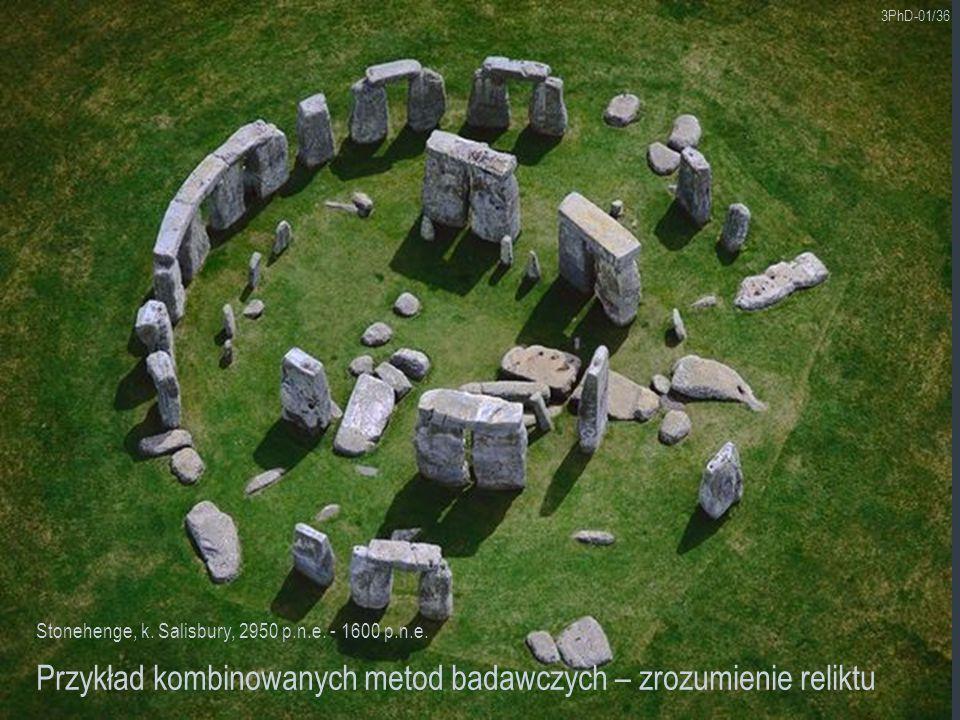 3PhD-01/36 Przykład kombinowanych metod badawczych – zrozumienie reliktu Stonehenge, k. Salisbury, 2950 p.n.e. - 1600 p.n.e.