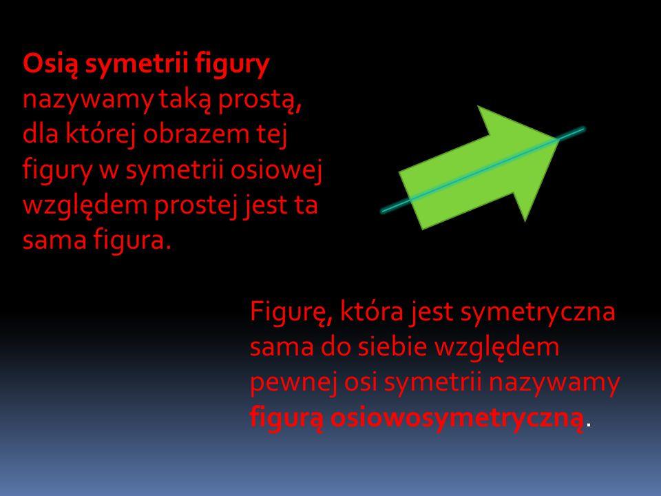 Mówimy, że punkty A i A' są symetryczne względem punktu S, jeżeli punkt S jest środkiem odcinka AA' Przyjmujemy, że punkt S jest symetryczny sam do siebie względem punktu S