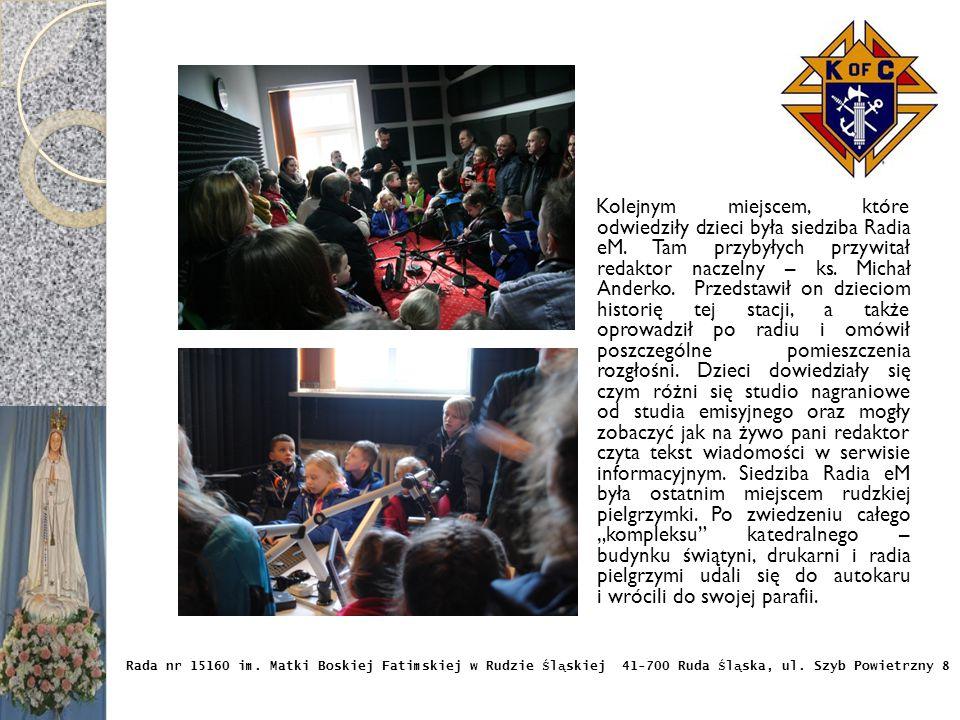 Kolejnym miejscem, które odwiedziły dzieci była siedziba Radia eM.