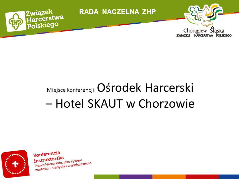 RADA NACZELNA ZHP Miejsce konferencji: Ośrodek Harcerski – Hotel SKAUT w Chorzowie