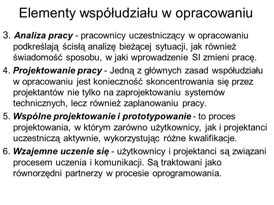 Elementy współudziału w opracowaniu 3.