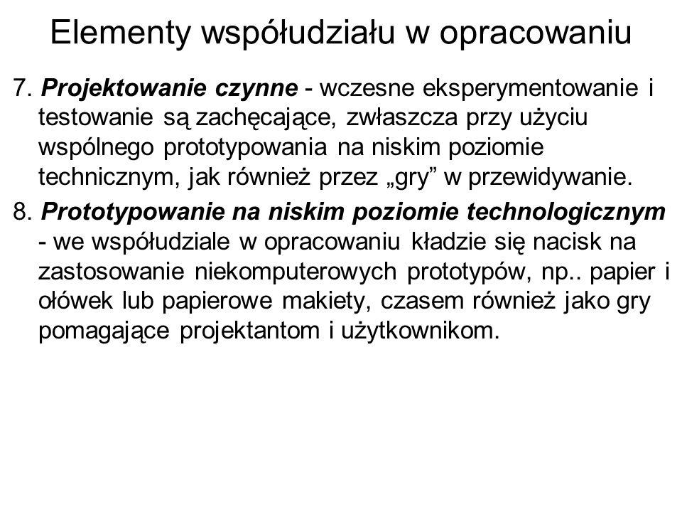 Elementy współudziału w opracowaniu 7.