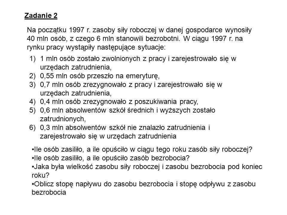 Zadanie 2 Na początku 1997 r.