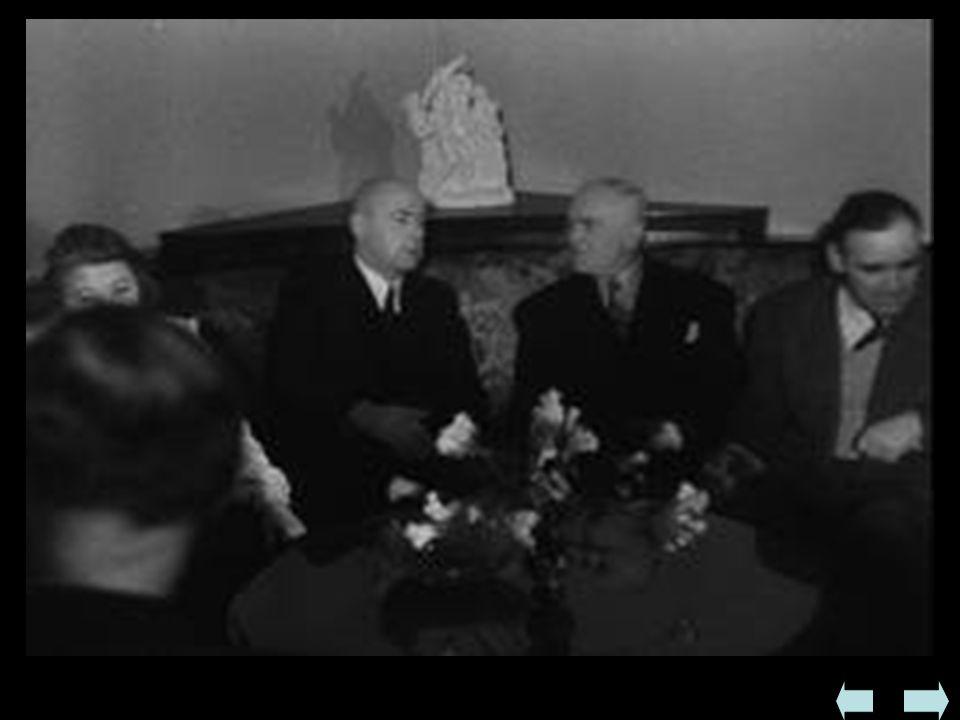  Zmuszenie króla Michała do mianowania w II 1945rządu komunistycznego premiera Petru Grozy - sfałszowanie wyborów do parlamentu w 1946, terror, likwi