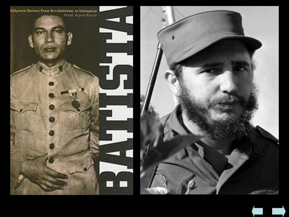  Rewolucja kubańska  W 1952 ponownie do dyktatorskiej władzy doszedł Fulgencio Batista - wywołało to protest lewicujących intelektualistów z braćmi