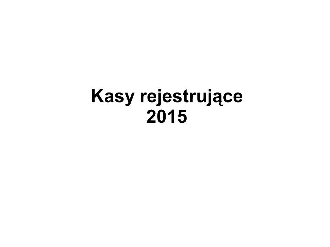 Kasy rejestrujące 2015
