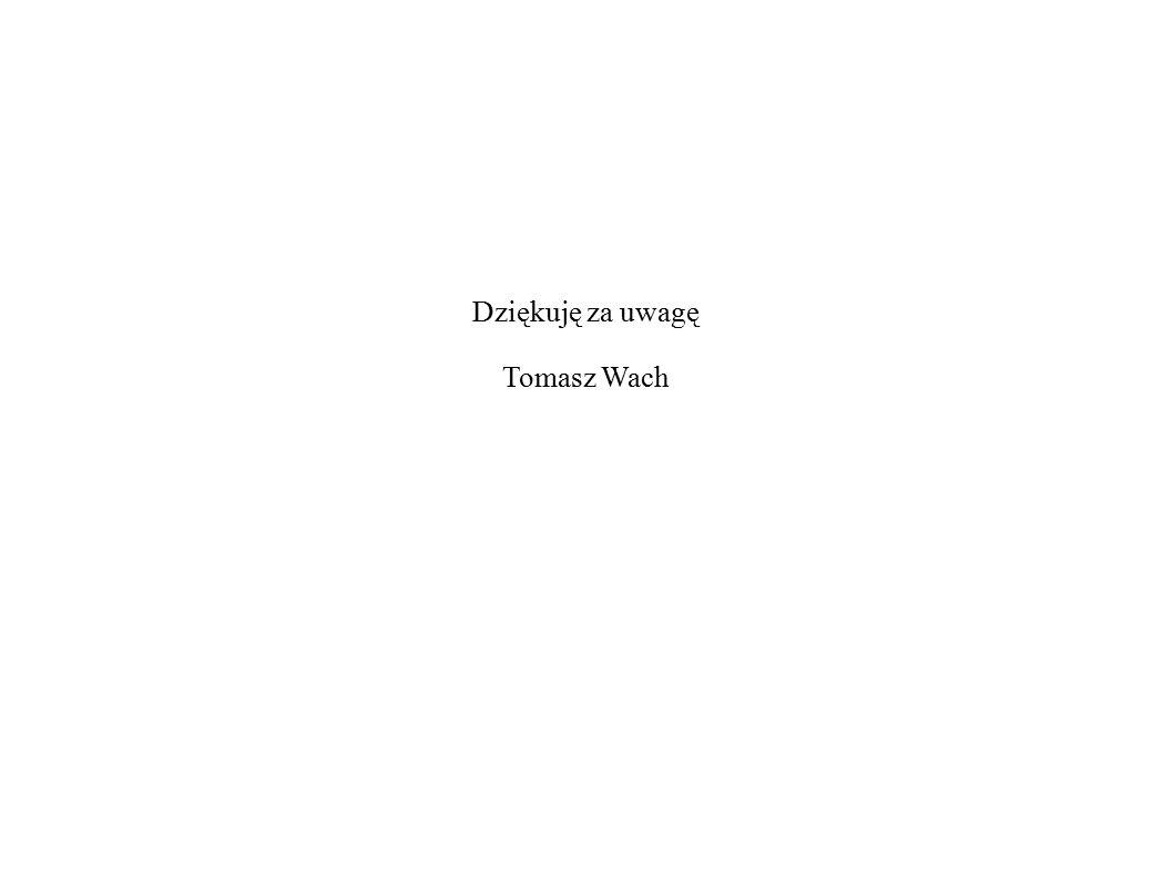 Dziękuję za uwagę Tomasz Wach
