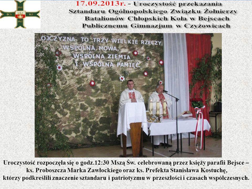 Uroczystość rozpoczęła się o godz.12:30 Mszą Św. celebrowaną przez księży parafii Bejsce – ks. Proboszcza Marka Zawłockiego oraz ks. Prefekta Stanisła