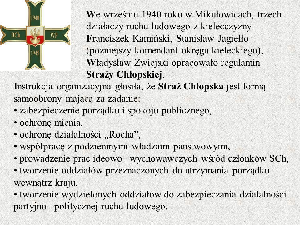 We wrześniu 1940 roku w Mikułowicach, trzech działaczy ruchu ludowego z kielecczyzny Franciszek Kamiński, Stanisław Jagiełło (późniejszy komendant okr