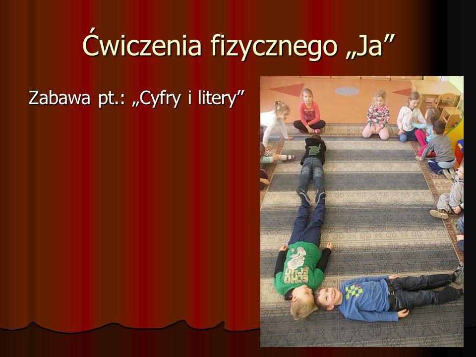 """Ćwiczenia fizycznego """"Ja Zabawa pt.: """"Cyfry i litery"""