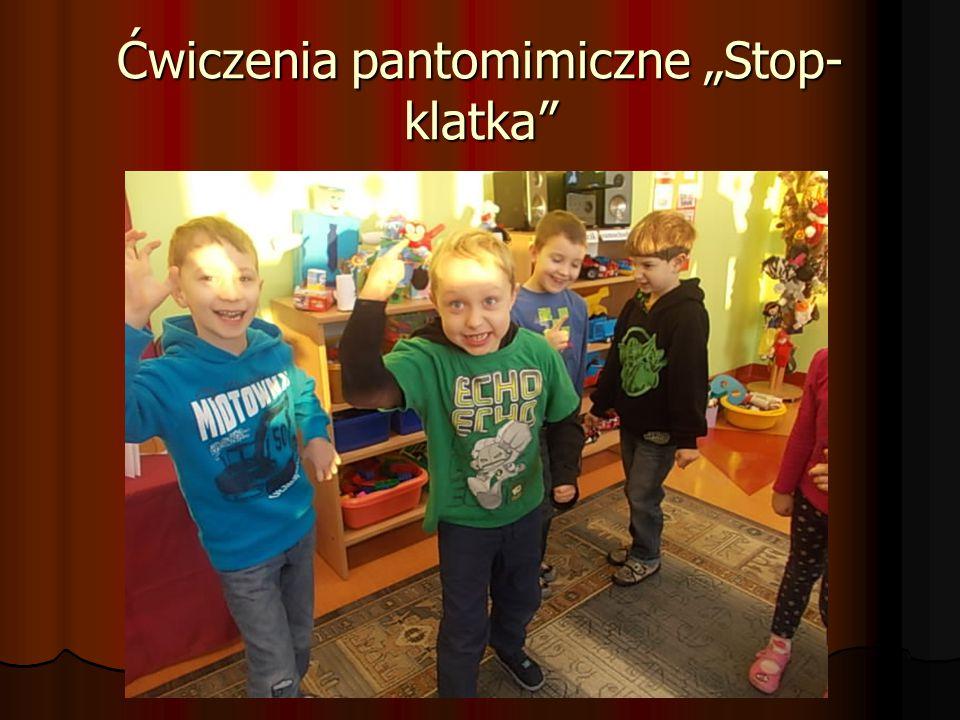 """Ćwiczenia pantomimiczne """"Stop- klatka"""