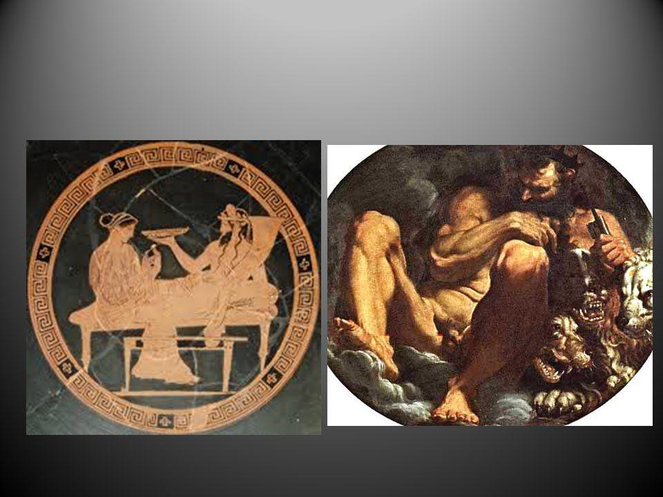 Hades Hades to mityczny syn Koronosa i Rei, brat Zeusa i Posejdona, władca podziemnego świata zmarłych, mąż Persefony. Wyobrażano go sobie bezlitosneg
