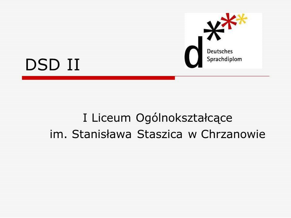 DSD II I Liceum Ogólnokształcące im. Stanisława Staszica w Chrzanowie