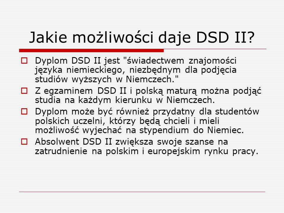 Jakie możliwości daje DSD II.