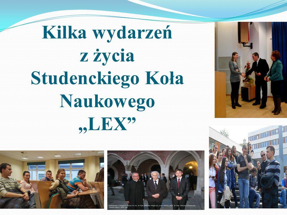 """Współpraca ze studenckimi źródłami informacji, obsługa reklamowa przedsięwzięć Koła oraz prowadzenie strony internetowej to podstawowe zadania """"LEX-ow"""