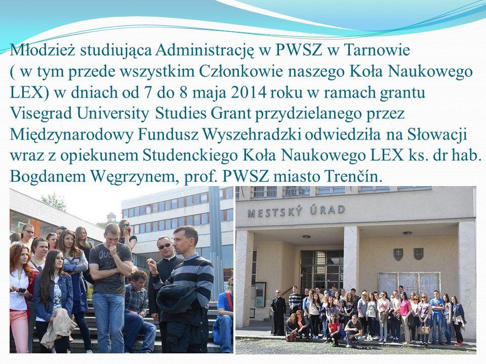 """Studenci Koła Naukowego """"LEX"""" z wizytą na Słowacji"""