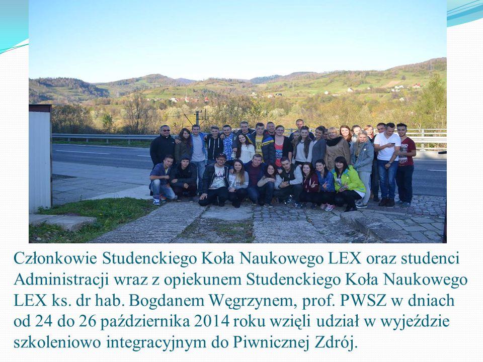 """Studenci Koła Naukowego """"LEX"""" na wyjeździe szkoleniowo - integracyjnym do Piwnicznej Zdrój"""