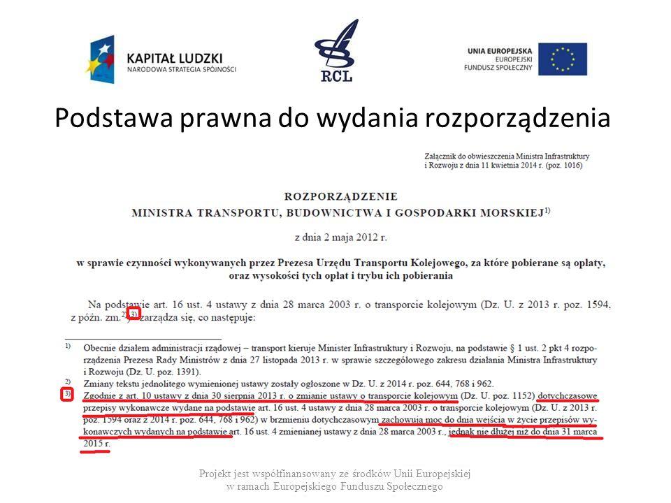 Sporządzanie tekstu jednolitego Jeżeli rozporządzenie zmieniające wprowadza nowe brzmienie jednostki redakcyjnej wówczas w tekście jednolitym odnośnik do tej zmiany ma następujące brzmienie: Projekt jest współfinansowany ze środków Unii Europejskiej w ramach Europejskiego Funduszu Społecznego