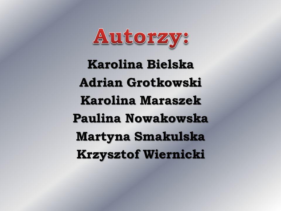 Karolina Bielska Adrian Grotkowski Karolina Maraszek Paulina Nowakowska Martyna Smakulska Krzysztof Wiernicki