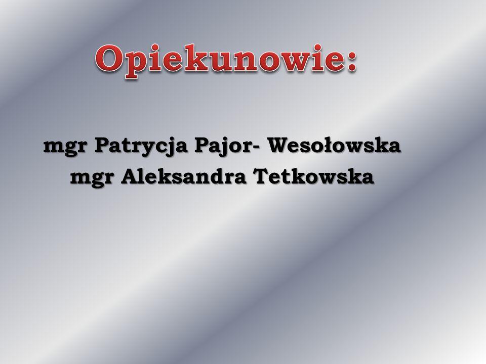 mgr Patrycja Pajor- Wesołowska mgr Aleksandra Tetkowska