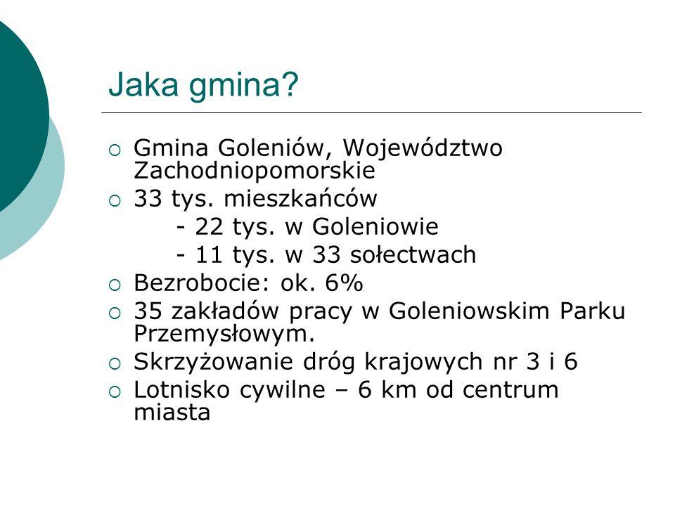 Jaka gmina.  Gmina Goleniów, Województwo Zachodniopomorskie  33 tys.