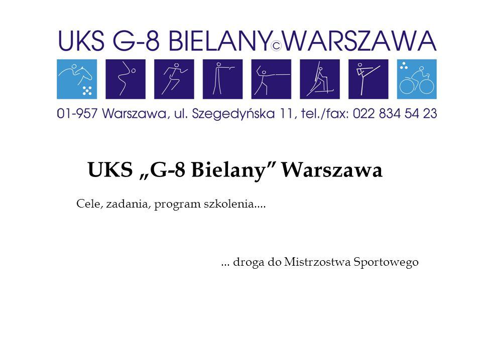 """UKS """"G-8 Bielany"""" Warszawa Cele, zadania, program szkolenia....... droga do Mistrzostwa Sportowego"""