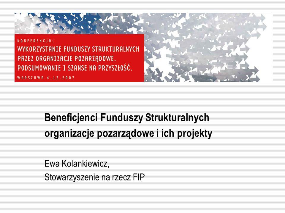 Organizacje a inne typy projektodawców Udział poszczególnych typów projektodawców w SPO RZL: 44,51% powiatowe urzędy pracy 22,00% przedsiębiorcy 13,76% organizacje pozarządowe