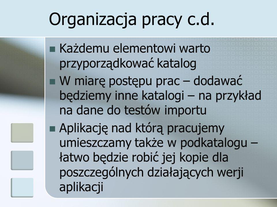 Organizacja pracy c.d.