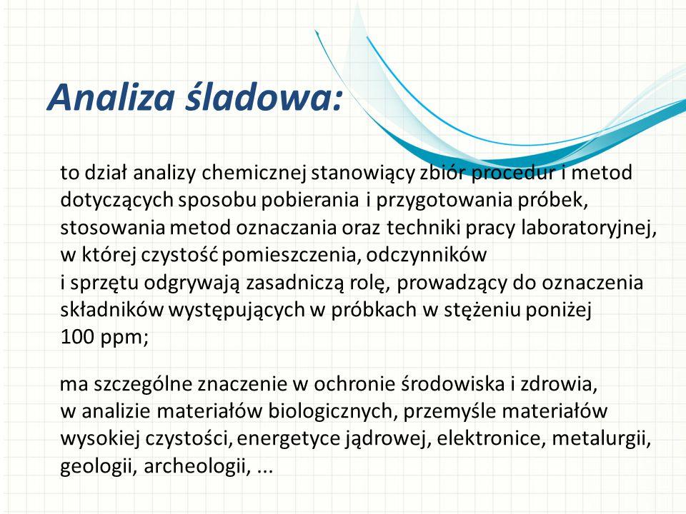 to dział analizy chemicznej stanowiący zbiór procedur i metod dotyczących sposobu pobierania i przygotowania próbek, stosowania metod oznaczania oraz