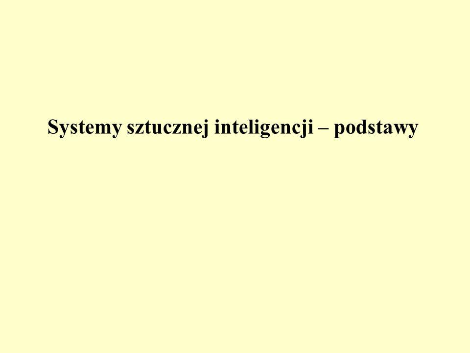 Systemy sztucznej inteligencji – podstawy