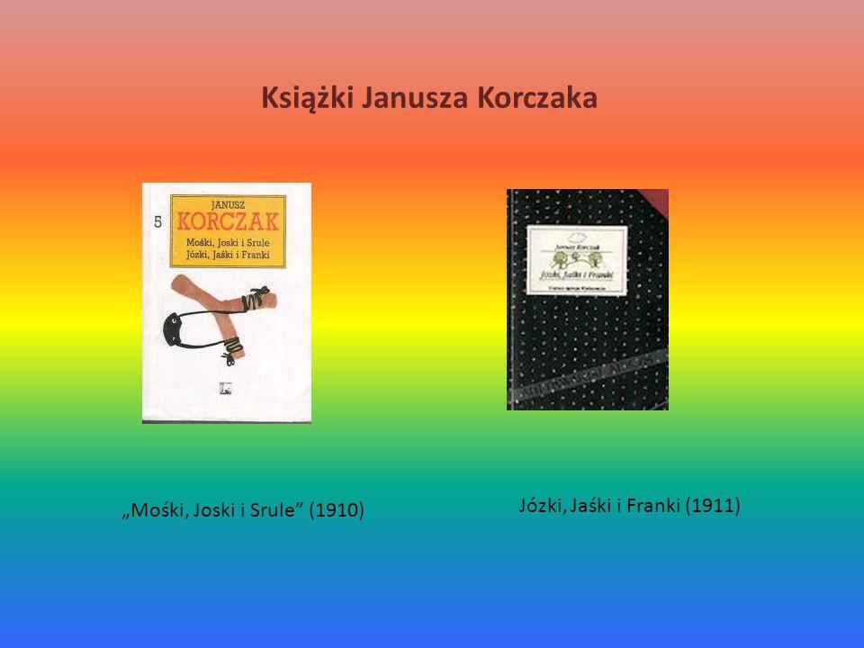 "Książki Janusza Korczaka Józki, Jaśki i Franki (1911) ""Mośki, Joski i Srule (1910)"